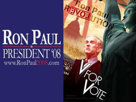 V for Vote, Ron Paul by filoarts