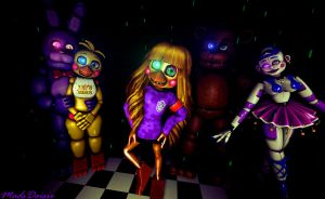 [SFM/FNAF/OC] My Four Favourite Animatronic's by MadsDaisie