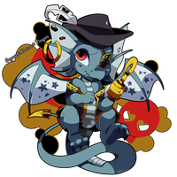 Neopets: Ashiji the Pirate Draik by QueenAshi