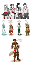 Genderbend Creed Dump by milkaru