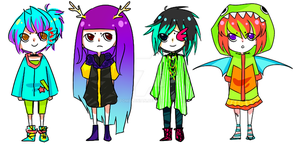 colorful adopts [closed] by pomelonian