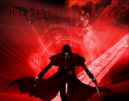 Wallpaper Hellsing Alucard Red by MightYst01