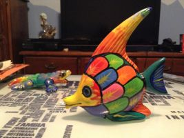 Ceramic Fish 1 by NINJAWERETIGER