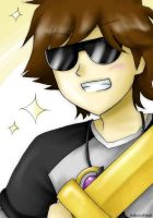 Skydoesminecraft bling bling xD by KakuzuFreak