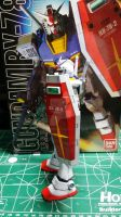 Gundam RX78-2 VER. 1.5  Ready for launch side by busymodeler