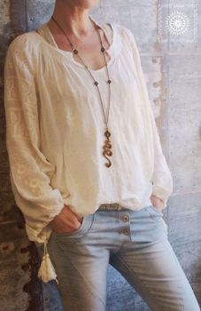 Long leather necklace. by byLighty