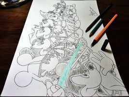 Sketch - Mickey Mouse Disney by filipeoliveira