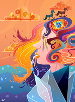 Girl with Kaleidoscope Eyes by Loopy-Lupe