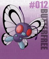 Pokemon: 012 Butterfree by Xxid