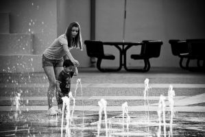 a child afraid of water by PortraitOfaLife