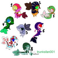 Snivy adoptables batch 1 by Jirachi-Adopties