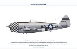 P-47 USAAF 84th FS 1 by WS-Clave