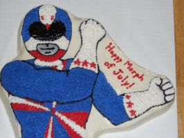 4th of July Power Rangers Cake - Detail by towelgirl21
