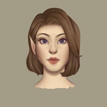 Female Front View   Art Study by CrypticCreator