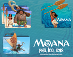 Disney's Moana - Folder Icons by Omarproduction