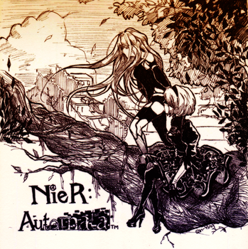 NieR Automata sketch 1 by Qin-Ying