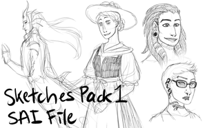 Sketches Pack 1 Preview Image by RhodArt