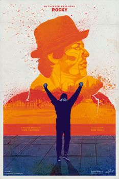 Rocky (1976) inspired poster by le0arts