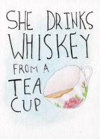 She Drinks Whiskey by shishah