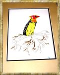African Bird Stipple Framed by TheRainQueen