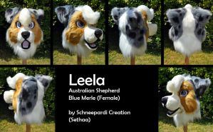 Fursuit head Leela Aussie by Sethaa