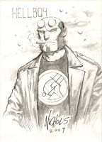 Hellboy Sketch NYCC by FlowComa