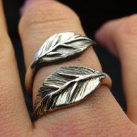 Leaf ring wrap by nellyvansee