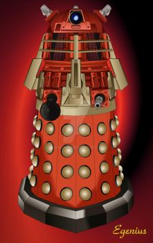 Supreme Dalek Dr Who 2008 COLOR Version Vector by Egenius-Fr