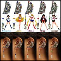 Sailor Moon Steampunk ear cuffs by Meowchee