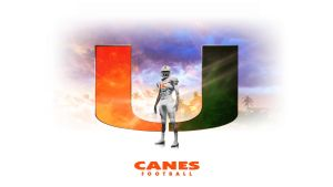 Canes Football by Photopops
