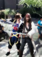 Sora And Jack Sparrow by FarOffMemoryCosplay