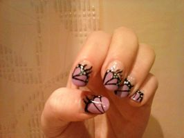 Butterly french nail art by Hrasulee