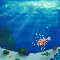 Lionfish's home by fuzzypinkmonster