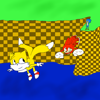 Sonic Can't Fly by SuperpowerOfTeamwork