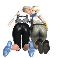 Early Valentine Gift - Cassie Cage X Sherry Birkin by LordryuAttempt4