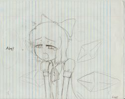 School doodles 3 - Cirno? by TheLOL