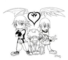 Kingdom Hearts chibi fan art by SanfamProductions