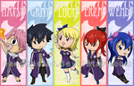 Chibi Fairy Tail bookmarks 2013 by AznCeestar