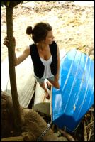 Marie - one boat blue by wildplaces