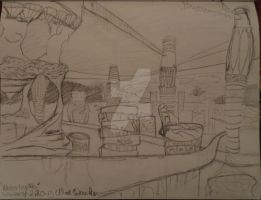 City Concept 2 for video game Sketch by CRWardenArt
