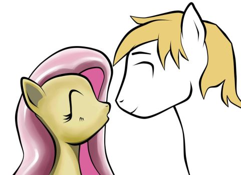 Fluttershy and Angel Stallion(ShyHair)-2014-01 by StreaksPsyche