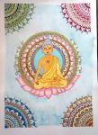 Buddha - fundo aquarela by Ane73