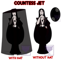 Countess Jet: Official Ref by DEATHANDTHEMOON