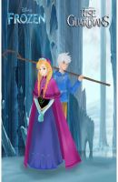 Anna Frozen and Jack Frost by jackoverlandfrost315