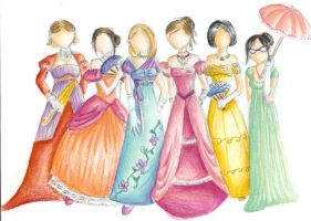 19th century dresses by usagi-chan2