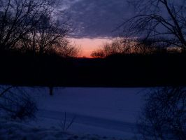 Before the sun rises in a harsh winter land by thosthegreat