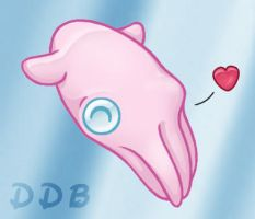 Happy Vampire Squid by deeed