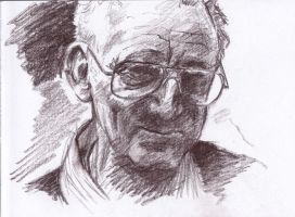 Portrait of a professor (daily sketch 101) by hardcorish