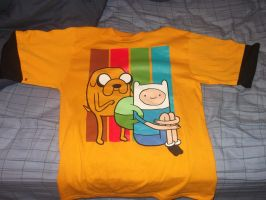 My new Adventure Time shirt by rabbidlover01