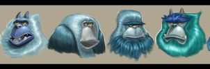 Yeti Character Concepts by KIRKparrish